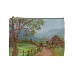 Amish Buggy Going Home  by Ave Hurley of ArtRevu ~ Cosmetic Bag (Large)
