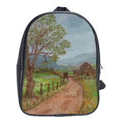 Amish Buggy Going Home  by Ave Hurley of ArtRevu ~ School Bag (Large)