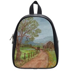 Amish Buggy Going Home  by Ave Hurley of ArtRevu ~ School Bag (Small)