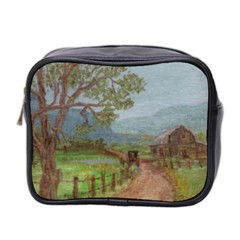 amish Buggy Going Home  By Ave Hurley Of Artrevu   Mini Toiletries Bag (two Sides)