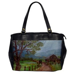 Amish Buggy Going Home  by Ave Hurley of ArtRevu ~ Oversize Office Handbag