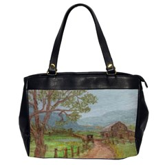 Amish Buggy Going Home  by Ave Hurley of ArtRevu ~ Oversize Office Handbag (2 Sides)