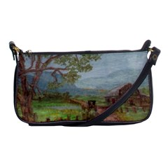 amish Buggy Going Home  By Ave Hurley Of Artrevu   Shoulder Clutch Bag