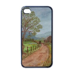 Amish Buggy Going Home  by Ave Hurley of ArtRevu ~ Apple iPhone 4 Case (Black)