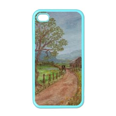 amish Buggy Going Home  By Ave Hurley Of Artrevu   Apple Iphone 4 Case (color)