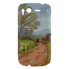 Amish Buggy Going Home  by Ave Hurley of ArtRevu ~ HTC Desire S Hardshell Case