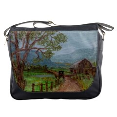 Amish Buggy Going Home  by Ave Hurley of ArtRevu ~ Messenger Bag