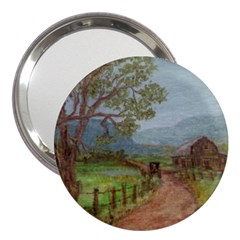 amish Buggy Going Home  By Ave Hurley Of Artrevu   3  Handbag Mirror