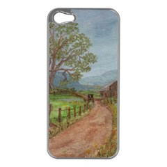 Amish Buggy Going Home  by Ave Hurley of ArtRevu ~ Apple iPhone 5 Case (Silver)