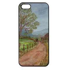 amish Buggy Going Home  By Ave Hurley Of Artrevu   Apple Iphone 5 Seamless Case (black)