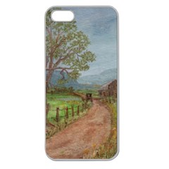 Amish Buggy Going Home  by Ave Hurley of ArtRevu ~ Apple Seamless iPhone 5 Case (Clear)