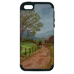 Amish Buggy Going Home  by Ave Hurley of ArtRevu ~ Apple iPhone 5 Hardshell Case (PC+Silicone)