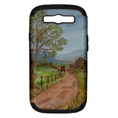 Amish Buggy Going Home  by Ave Hurley of ArtRevu ~ Samsung Galaxy S III Hardshell Case (PC+Silicone)
