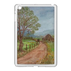 Amish Buggy Going Home  by Ave Hurley of ArtRevu ~ Apple iPad Mini Case (White)