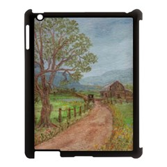 Amish Buggy Going Home  by Ave Hurley of ArtRevu ~ Apple iPad 3/4 Case (Black)