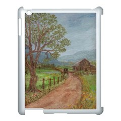Amish Buggy Going Home  by Ave Hurley of ArtRevu ~ Apple iPad 3/4 Case (White)