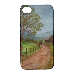 Amish Buggy Going Home  by Ave Hurley of ArtRevu ~ Apple iPhone 4/4S Hardshell Case with Stand