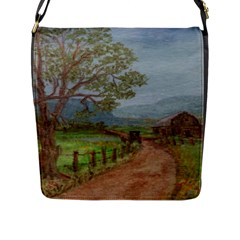 Amish Buggy Going Home  by Ave Hurley of ArtRevu ~ Flap Closure Messenger Bag (L)