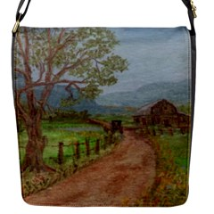 Amish Buggy Going Home  by Ave Hurley of ArtRevu ~ Flap Closure Messenger Bag (S)