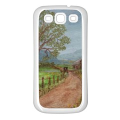 Amish Buggy Going Home  by Ave Hurley of ArtRevu ~ Samsung Galaxy S3 Back Case (White)