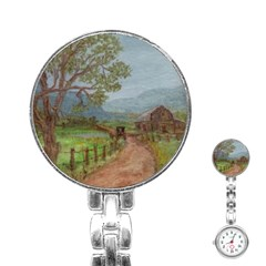 Amish Buggy Going Home  by Ave Hurley of ArtRevu ~ Stainless Steel Nurses Watch