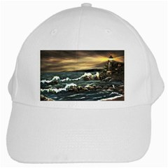 Bridget s Lighthouse   by Ave Hurley of ArtRevu ~ White Cap