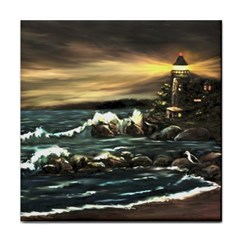 bridget s Lighthouse   By Ave Hurley Of Artrevu   Tile Coaster