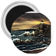 Bridget s Lighthouse   by Ave Hurley of ArtRevu ~ 3  Magnet