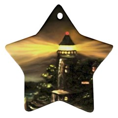 Bridget s Lighthouse   by Ave Hurley of ArtRevu ~ Ornament (Star)