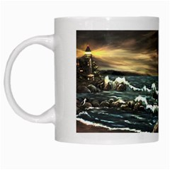 bridget s Lighthouse   By Ave Hurley Of Artrevu   White Mug