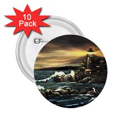 Bridget s Lighthouse   by Ave Hurley of ArtRevu ~ 2.25  Button (10 pack)