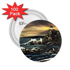 bridget s Lighthouse   By Ave Hurley Of Artrevu   2 25  Button (100 Pack)
