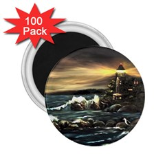 bridget s Lighthouse   By Ave Hurley Of Artrevu   2 25  Magnet (100 Pack)