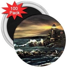 Bridget s Lighthouse   by Ave Hurley of ArtRevu ~ 3  Magnet (100 pack)