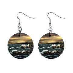 bridget s Lighthouse   By Ave Hurley Of Artrevu   1  Button Earrings