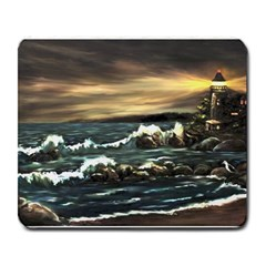 bridget s Lighthouse   By Ave Hurley Of Artrevu   Large Mousepad