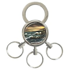 Bridget s Lighthouse   by Ave Hurley of ArtRevu ~ 3-Ring Key Chain