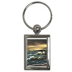 bridget s Lighthouse   By Ave Hurley Of Artrevu   Key Chain (rectangle)