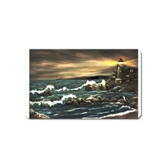 Bridget s Lighthouse   by Ave Hurley of ArtRevu ~ Magnet (Name Card)