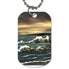 bridget s Lighthouse   By Ave Hurley Of Artrevu   Dog Tag (two Sides)