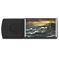 Bridget s Lighthouse   by Ave Hurley of ArtRevu ~ USB Flash Drive Rectangular (1 GB)