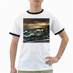 Bridget s Lighthouse   by Ave Hurley of ArtRevu ~ Ringer T