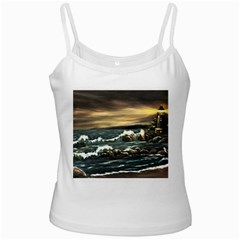 bridget s Lighthouse   By Ave Hurley Of Artrevu   Ladies Camisole