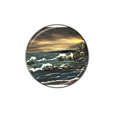 Bridget s Lighthouse   by Ave Hurley of ArtRevu ~ Hat Clip Ball Marker (4 pack)