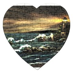 bridget s Lighthouse   By Ave Hurley Of Artrevu   Jigsaw Puzzle (heart)
