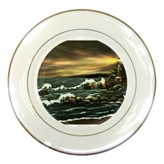 bridget s Lighthouse   By Ave Hurley Of Artrevu   Porcelain Plate