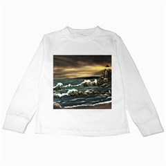 Bridget s Lighthouse   by Ave Hurley of ArtRevu ~ Kids Long Sleeve T-Shirt