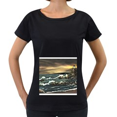Bridget s Lighthouse   by Ave Hurley of ArtRevu ~ Women s Loose-Fit T-Shirt (Black)