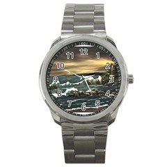 Bridget s Lighthouse   by Ave Hurley of ArtRevu ~ Sport Metal Watch