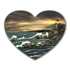 Bridget s Lighthouse   by Ave Hurley of ArtRevu ~ Heart Mousepad